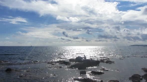 Thumbnail for Fisherman  Spinning Near Sea In Sunlight -