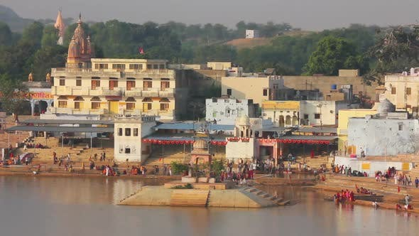 Thumbnail for Ritual Bathing In Holy Lake - Pushkar India,