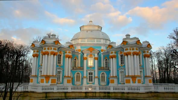 Thumbnail for The Ancient Building In Pushkin Park, Tsarskoye Selo, St. Petersburg