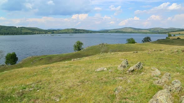 Thumbnail for Beautiful Landscape  Lake Between Hills - South Ural, Russia 1