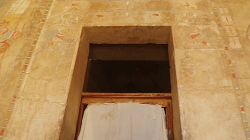 Ancient Egypt Farbe Bilder an Wand In Luxor - Panansicht 1