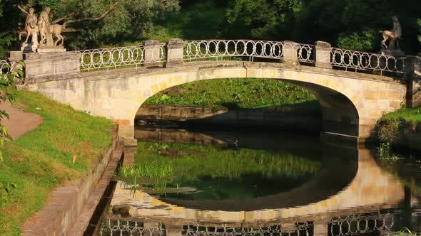 Thumbnail for Centaurs Bridge In Pavlovsk Park Saint-Petersburg Russia 2