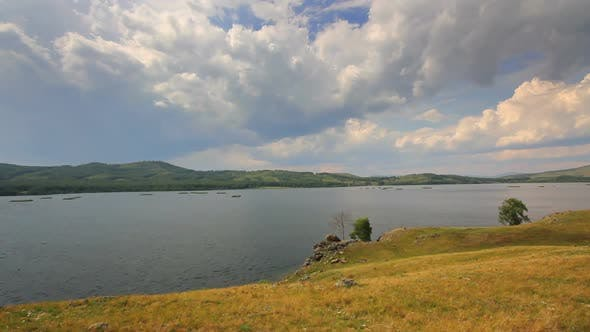 Thumbnail for Beautiful  Landscape  Lake Between Hills - South Ural, Russia 2