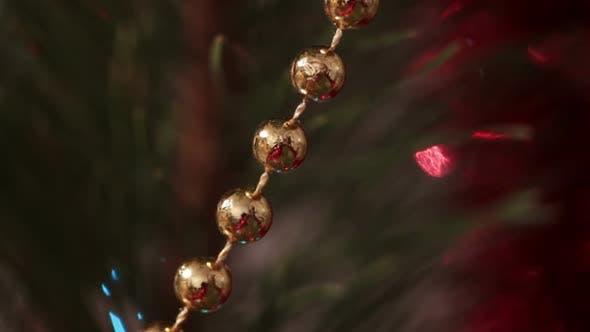 Thumbnail for Decorated Christmas Tree  Flashing Garlands Macro
