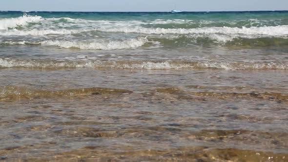 Thumbnail for Cute Little Girl In Hat Bathing In Sea 2