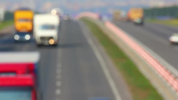 Thumbnail for Cars traveling on The Highway - Defocused 1