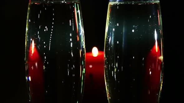 Thumbnail for Glasses  Champagne And Candle - Romantic Evening 1