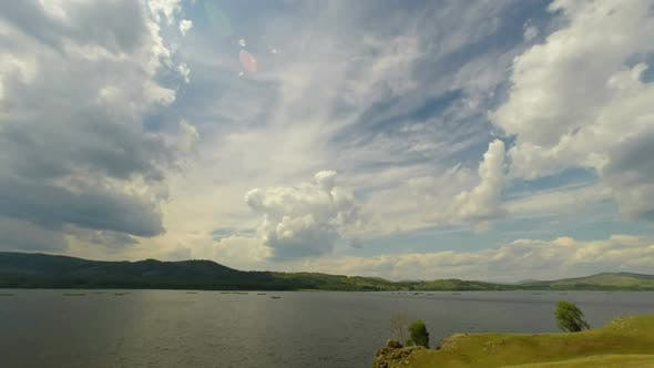 Thumbnail for Beautiful  Landscape  Lake Between Hills - South Ural, Russia 5