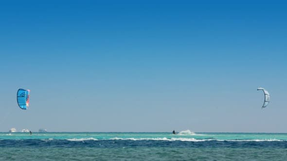 Thumbnail for Kite Surfing - Surfers On Blue Sea Surface 4