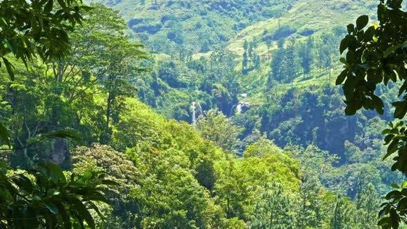 Thumbnail for Mountain Landscape  Waterfall In Sri Lanka