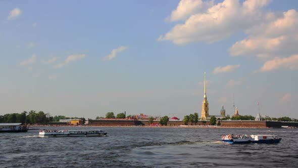 Thumbnail for Neva River In The Historical Center Of Saint-Petersburg, Russia 1