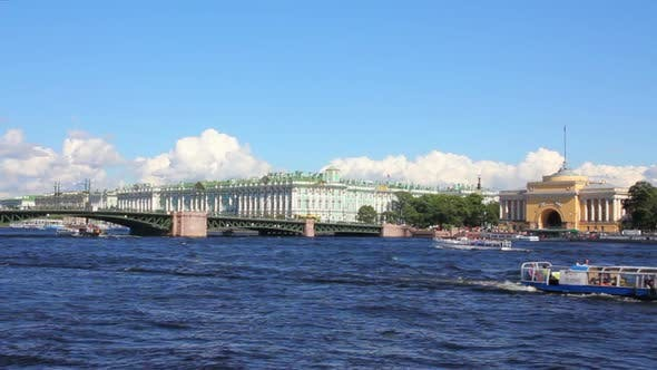 Thumbnail for Neva River In The Historical Center Of Saint-Petersburg, Russia 2