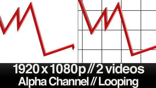 Thumbnail for 3D Falling Trend Line - Loop - Alpha