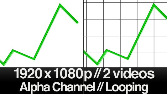 Thumbnail for 3D Raising Trend Line - Loop - Alpha