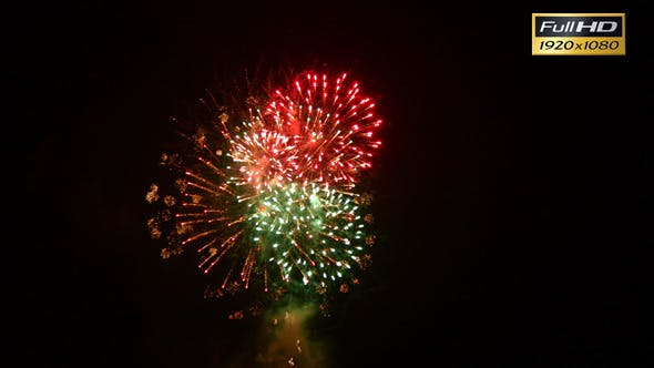 Thumbnail for Colorful Fireworks at Night