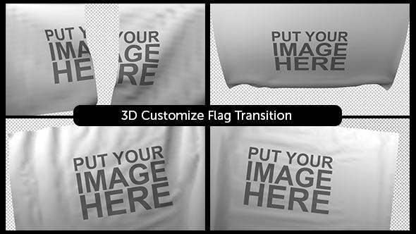 3D Customizable Flag Transition