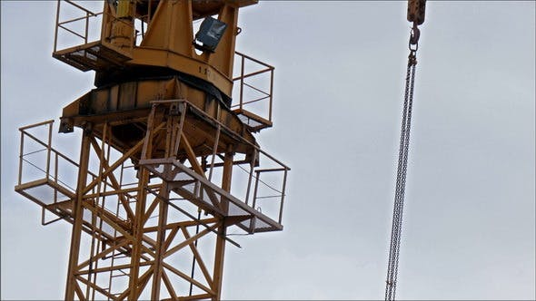 Thumbnail for A Tall Crane on a Construction Site