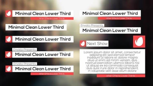 Thumbnail for Minimal Clean Lower Third