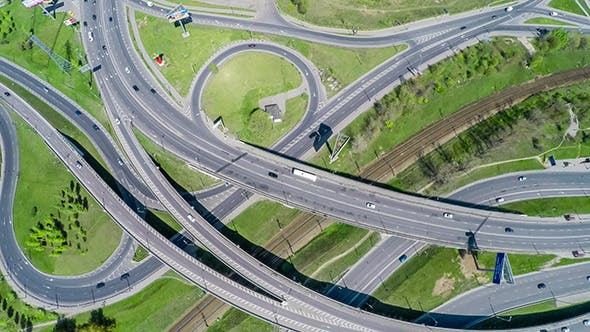 Cover Image for Aerial View Of A Freeway