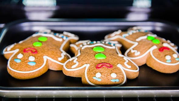 Thumbnail for Baking Gingerbread Man In The Oven