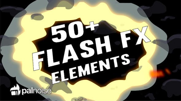 Thumbnail for Flash FX Explosions, Fires, Smokes (54-Pack)