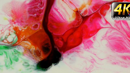 Thumbnail for Abstract Colorful Paint Ink Liquid Explode 11