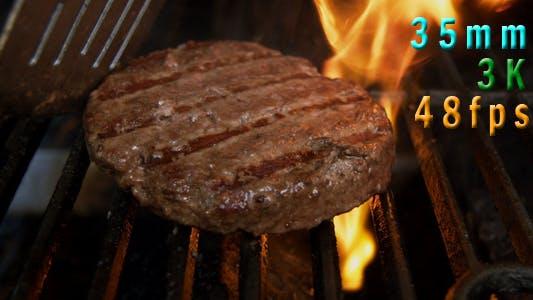 Thumbnail for Grilling A Hamburger 04