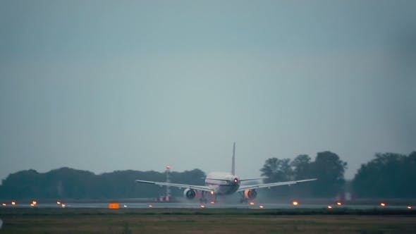 Thumbnail for Plane Taking Off Runway