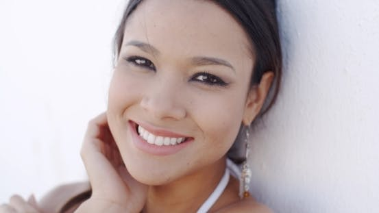 Thumbnail for Smiling Elegant Young Woman