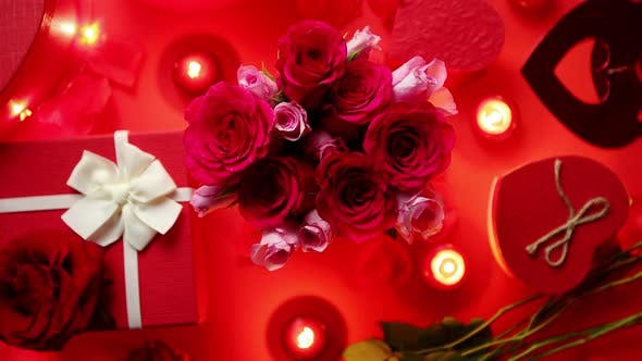 Thumbnail for Valentines Day Romantic Decoration with Roses Boxed Gifts Candles