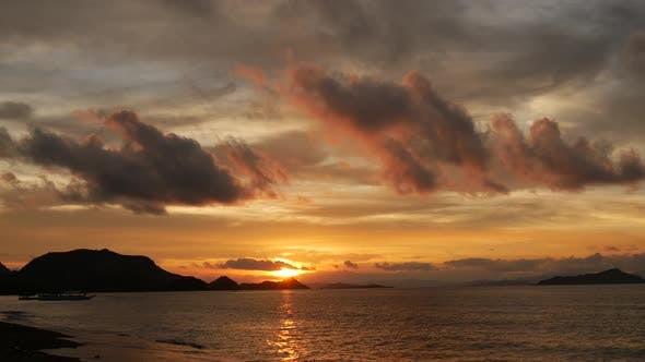 Labuan Bajo beach sunset