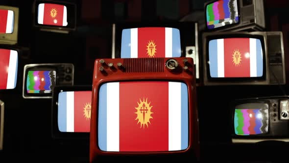 Thumbnail for Flag of Santiago Del Estero province, Argentina, and Retro TVs.