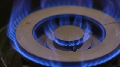 Gas burning of kitchen gas stove