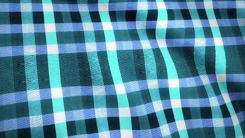 Blue squares fabric cloth