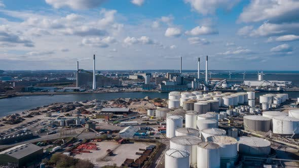 Thumbnail for Drone Over Industrial Site In Amager