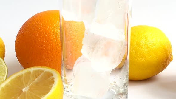 Preparation of Drink in Glass with Ice