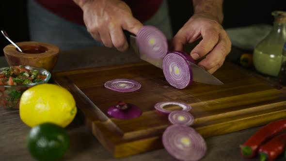 Thumbnail for Cutting Onions on Wood Board