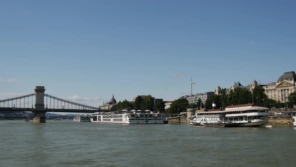 Cover Image for View from a ferry at the Danube river