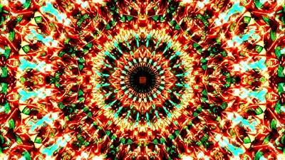 Bright abstract light governing full color, kaleidoscope