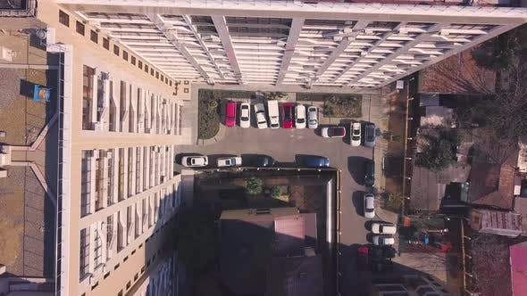 Thumbnail for Top view of roof of multi-storey building