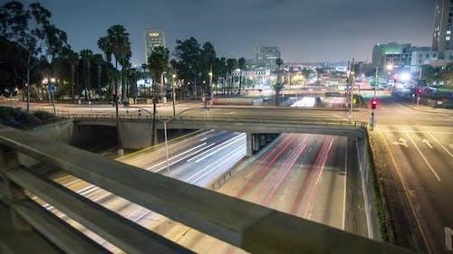 Los Angeles Freeway Hyper Lapse