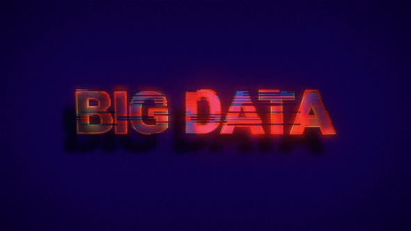 Thumbnail for Words Big Data With Overlayed Glitch