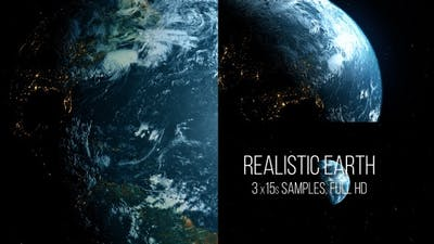 Realistic earth - 3 versions
