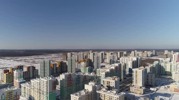 Aerial view of New residential area in a big city 02