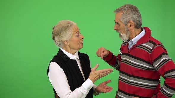 Thumbnail for An Elderly Couple Argues - Green Screen Studio