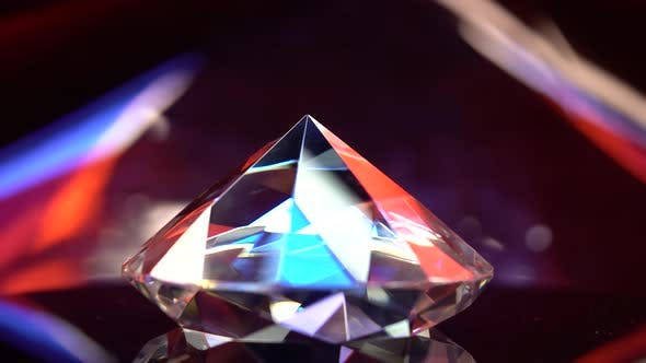 Thumbnail for Diamond Glows with Highlights Because It Is Multifaceted and Transparent
