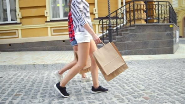 Thumbnail for Woman's Legs And Shopping Bags