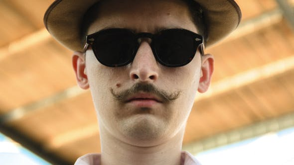 Thumbnail for Gentleman In A Hat Sunglasses And A Mustaches