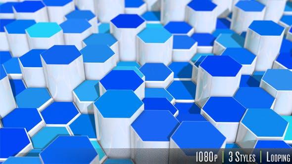 Thumbnail for 3D Hexagon Background