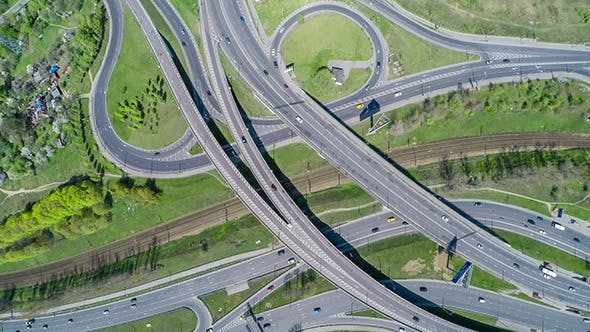 Thumbnail for Aerial View Of A Freeway